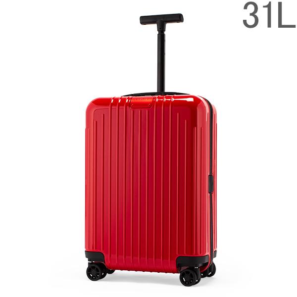リモワ RIMOWA エッセンシャル ライト 82352654 キャビン S 31L 機内持ち込み スーツケース グロスレッド