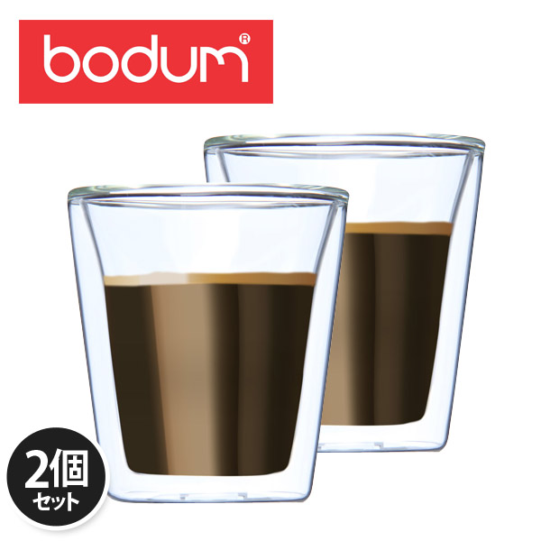 �y365��o�בΉ��zBodum �{�_���L�����e�B�[���@�_�u���E�H�[���O���X 2�ƒZ�b�g 0.2L Canteen 10109-10US Double Wall Tumbler set of 2 �N���A