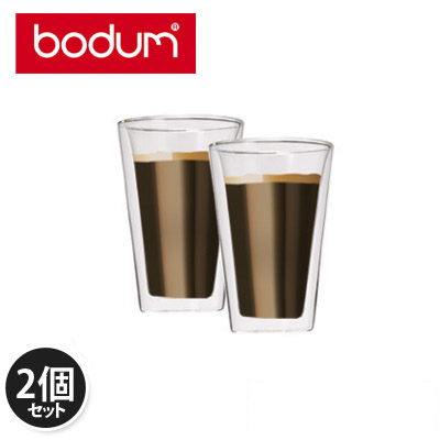 �y365��o�בΉ��zBodum�{�_���L�����e�B�[���_�u���E�H�[���O���X�N���A10110-10US Pint Glass 2�ƒZ�b�gCanteen Double Wall Cooler 0.4L