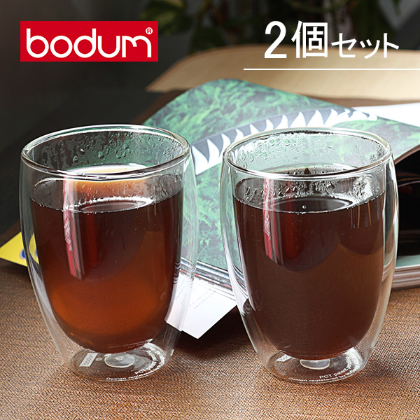 �y365��o�בΉ��zBodum�{�_���p���B�[�i�_�u���E�H�[���O���X2�ƒZ�b�g0.35L Pavina 4559-10US Double Wall Thermo Cooler set of 2�N���A