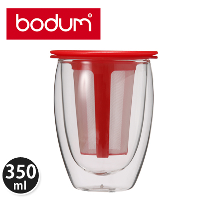 �y365��o�בΉ��zBodum�{�_���e�B�[�t�B���^�[�t���_�u���E�H�[���O���X0.35L�e�B�[�t�H�[����Tea for One K11153-294 Glass double wall���b�h