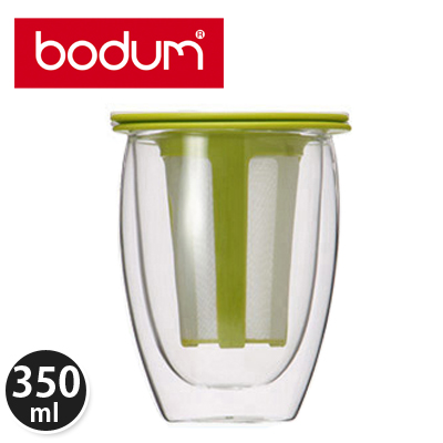 �y365��o�בΉ��zBodum �{�_���e�B�[�t�B���^�[�t���_�u���E�H�[���O���X 0.35L �e�B�[�t�H�[���� Tea for One K11153-565 �C���O���[��