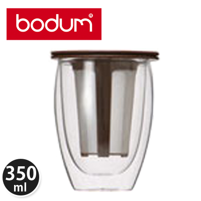 �y365��o�בΉ��zBodum �{�_���e�B�[�t�B���^�[�t���_�u���E�H�[���O���X 0.35L �e�B�[�t�H�[���� Tea for One K11153-906 Glass double wall �u���E��