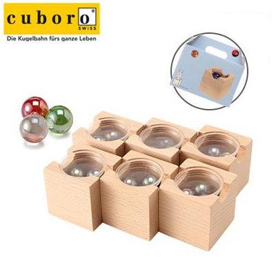 【365日出荷対応】Cuboro キュボロ (クボロ) シックスパック マーブルセット 145【玉の塔・キッズ・木のおもちゃ・積み木】クボロ社 ピタゴラスイッチみたいなおもちゃ