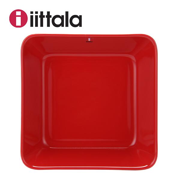 �y365��o�בΉ��z��̓� �M�t�g iittala �C�b�^�� TEEMA �e�B�[�} Teema plate 16x16cm �e�B�[�} �v���[�g 16x16cm red ���b�h 1006015