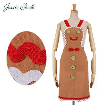 Jessie Steele �W�F�V�[�X�e�B�[�� Gingerbread Man Apron �W���V���[�u���b�h �}�� �G�v���� Gingerbread �W���V���[�u���b�h 455-JS-BRN