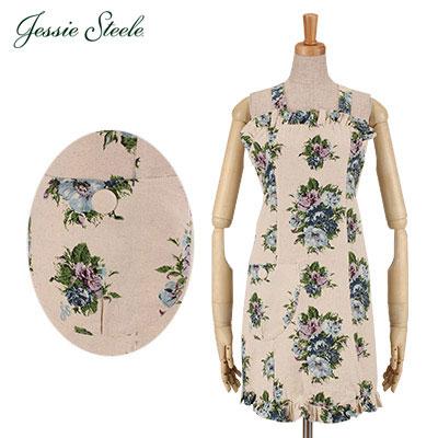 �y365��o�בΉ��z Jessie Steele �W�F�V�[�X�e�B�[�� Antoinette Apron �A���g���l�b�g �G�v���� Vintage Floral �u���[ 456B-JS-236BM