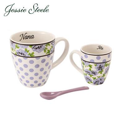 �y365��o�בΉ��zJessieSteele �W�F�V�[�X�e�B�[�� ���[&�~�[ You&Me �}�O�J�b�v2�ƒZ�b�g&�X�v�[��Purple Botanical Floral �p�[�v���t���[���� 49016