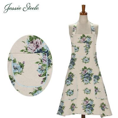 �y365��o�בΉ��z Jessie Steele �W�F�V�[�X�e�B�[�� Chef�fs Apron �G�v���� Vintage Floral Blue �r���e�[�W �t���[�����u���[ 305-JS-236BM