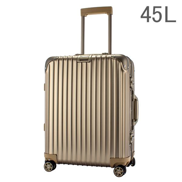RIMOWA リモワ トパーズ チタニウム945.56 94556 Topas Titaniumマルチホイール チタンゴールド (シャンパンゴールド)スーツケース4輪 45L(920.56.03.4)