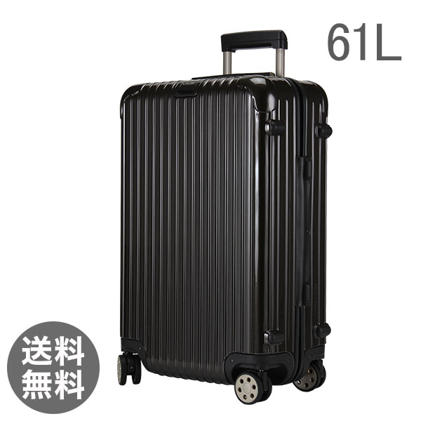 RIMOWA ������ SALSA Deluxe �T���T�f���b�N�X 830.63.33.4 �}���`�z�C�[�� granite brown �u���E�� MultiWheel ��61L