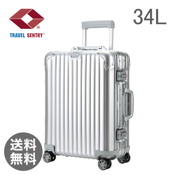 RIMOWA リモワ Topas トパーズ 34L Cabin MultiWheel IATA キャビン 4輪 Silver シルバー 923.53.00.4.02 スーツケース