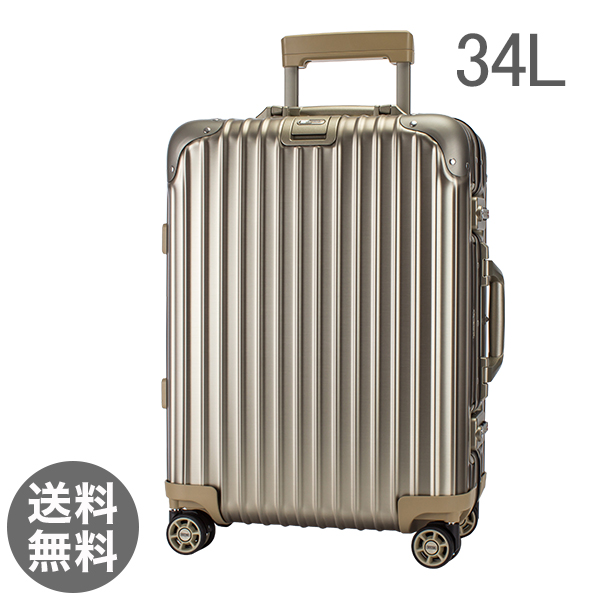 RIMOWA ������920.53.03.4 Topas Titanium �g�p�[�Y �`�^�j�E�� Cabin MultiWheel IATA �L���r���}���`�z�C�[�� �C�A�^ �`�^�j�E�� 34L