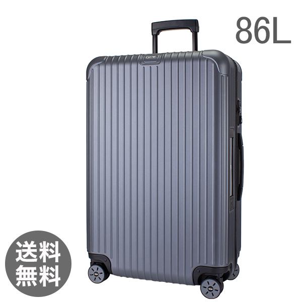 【E-Tag】 電子タグ  リモワ SALSA サルサ 838.70 83870 Multiwheel マルチホイール スーツケース キャリーバッグ マットグレー 86L (810.70.35.4)