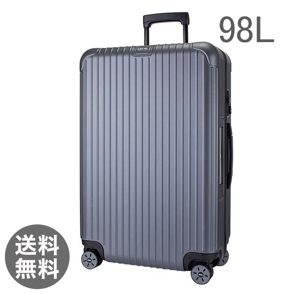 【E-Tag】 電子タグ  リモワ SALSA サルサ 838.73 83873 Multiwheel マルチホイール スーツケース キャリーバッグ マットグレー 98L (810.73.35.4)