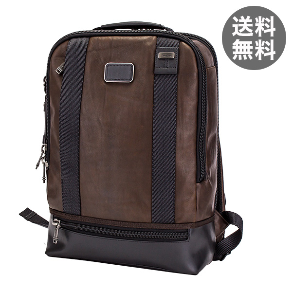 トゥミ Tumi ドーバー バックパック リュック レザー 92682DB2 ダークブラウン Alpha Bravo Dover Backpack メンズ A4サイズ ビジネス バッグ デイパック