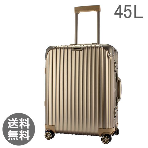 RIMOWA リモワ トパーズ チタニウム 923.56.03.4 Topas Titanium マルチホイール チタンゴールド (シャンパンゴールド) スーツケース 4輪 45L